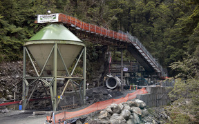The entrance to the Pike River Mine (21 November 2010)