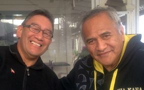 Mana Party leader Hone Harawira (left) and Māori Party president Tukoroirangi Morgan.