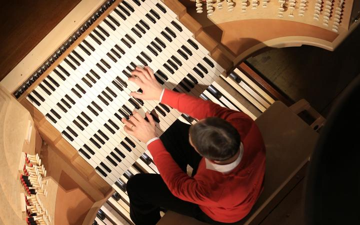 Olivier Latry at the organ console