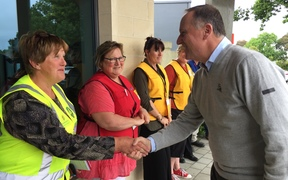 Prime Minister John Key meeting Hurunui council and civil defence officials.
