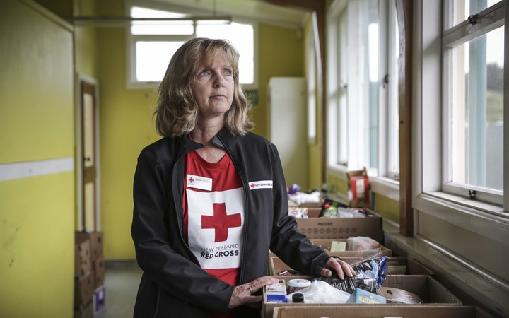 Red Cross Psycho Social Support team member, Sarah Gribbin in Kaikoura.