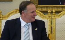 Prime Minister John Key talks to Deputy Crown Prince Mohammed Bin Naif.