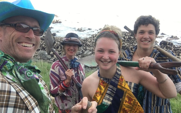 Chris and Annemarie Lidgard and their two adult children, Harriet and Jackson, live just south of Ohau Point.