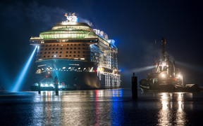 The Ovation of the Seas mega-cruise liner is set to visit Auckland four times in the next two years.