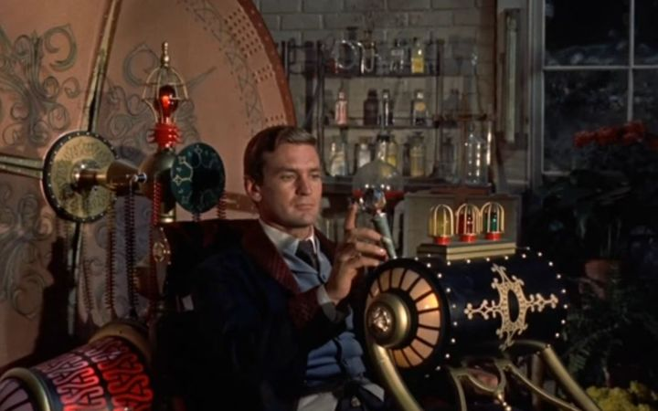 A still from the 1960 film of HG Wells' 'The Time Machine'