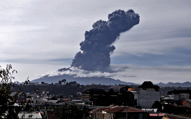 Chile's Calbuco volcano has erupted again, releasing a large column of ash - one week after it roared back to life.