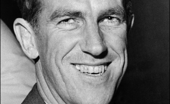 A portrait of Sir Edmund Hillary dated December 1958.