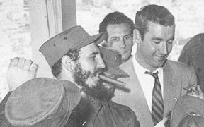 Fidel Castro with New Zealand journalist Bernard Diederich.
