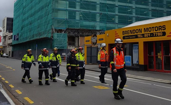 Ten buildings on Courtenay Place in Wellington's CBD have been evacuated.