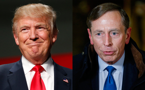 Donald Trump, left, and David Petraeus.