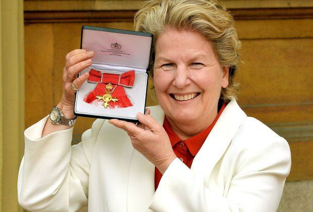 Sandi Toksvig was awarded an OBE (Order of the British Empire) in April 2014.