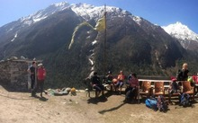 St Margaret's College pupils seen here during their Langtang trek.