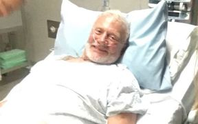 Buzz Aldrin is in Christchurch Hospital after being evacuated from Antartcica.