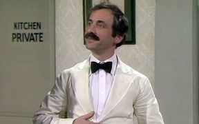 Fawlty Towers star Andrew Sachs as Manuel in the BBC sitcom.
