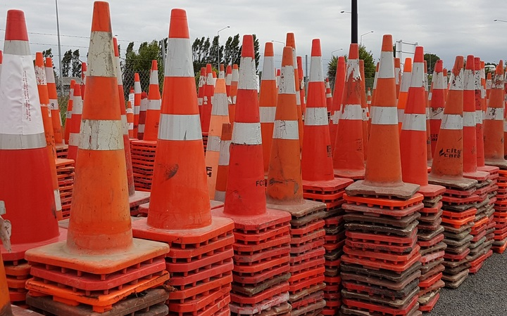 Road cones lost now found by the conemobile