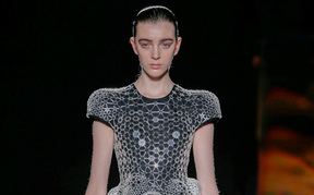 Detail from designer Iris van Herpen from her Lucid collection, FW 2016, Paris Fashion Week, March 8 2016
