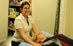 Physiotherapist Amy Dibley