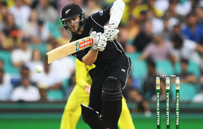 Kane Williamson bats for the Black Caps in the first ODI against Australia in Sydney on 4 December 2016.