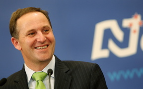 New Zealand Prime Minister-elect John Key speaks at a news conference in Auckland on 9 November 2008.
