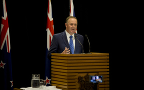 John Key announces his resignation at Parliament on 5 December 2016