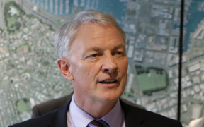 Phil Goff announcing Bill Cashmore as Deputy Mayor