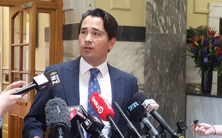 National MP Simon Bridges announces his intention to stand for the role of deputy prime minister.