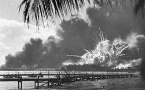 USS Shaw exploding, Pearl Harbour 07 Dec 1941