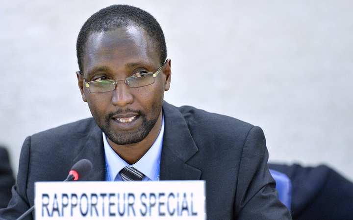 Mutuma Ruteere, the UN Special Rapporteur on contemporary forms of racism, racial discrimination, xenophobia and related intolerance, briefs the Human Rights Council. 2014