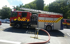A fire truck at Hutt Valley High School.