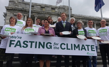 Members of the Green Party fasted yesterday to raise awareness about climate change.