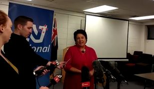 Paula Bennett speaks to media after Simon Bridges pulled out of the race for deputy PM.