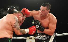New Zealand heavyweight boxer Joseph Parker v Andy Ruiz Jr.WBO World Heavyweight Title.
