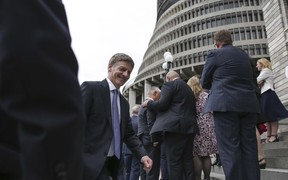Bill English announced as the new Prime Minister of New Zealand, Paula Bennett as Deputy Prime Minister.