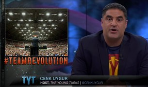 A screencap of Cenk Uygur on YouTube