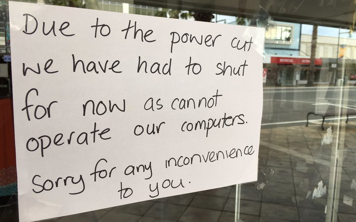 The power is back on in Gisborne - and most business are re-opening this morning.