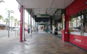 Shops are closed in central Gisborne due to the power outage.