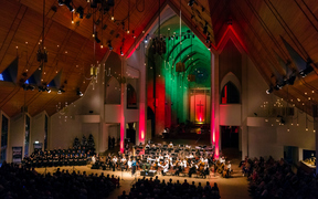 The Auckland Philharmonia Orchestra's Celebrate Christmas concert in Holy Trinity Cathedral.