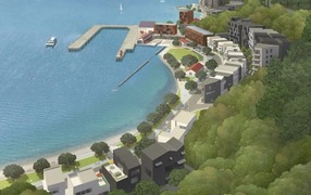 Artists impression of Shelly Bay development