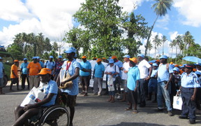 Political leaders and excombatants gather for Bougainville Peace Walk