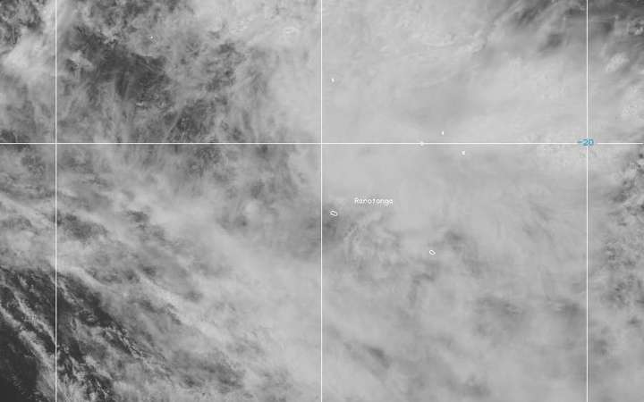 Satellite image of the southern Cook Islands Wednesday 14-12-2016.