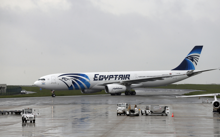 An EgyptAir plane is seen at the Roissy-Charles De Gaulle airport near Paris in May.