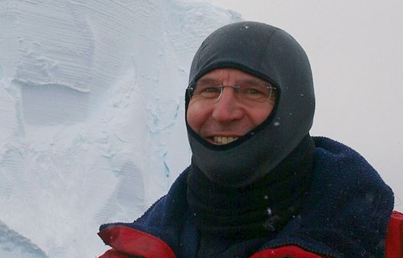 Steve Rintoul on board the Aurora Australis during the expedition to the Totten Glacier.