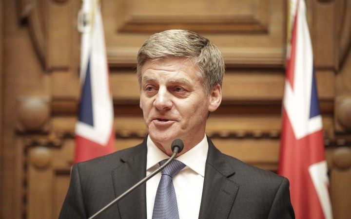 Bill English announced as the new Prime Minister of New Zealand, Paula Bennett as Deputy Prime Minister. Prime Minster Bill English speaks to media after the annoucement.