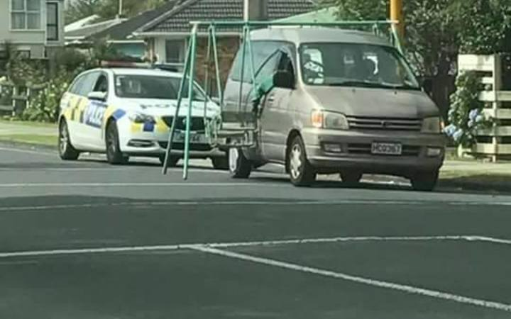 Police pulled over the van in Mangere East on Sunday.
