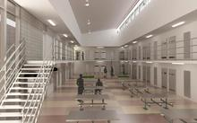 An artist's impression of the interior of the prison.