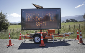 Inland road opened today.