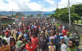 Over 500 people were reportedly arrested from West Papua demonstrations in Indonesia, December 2016.