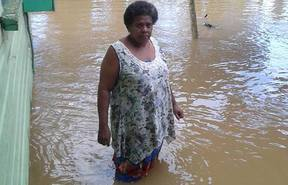 Flooding throughout Fiji has damaged hundreds of homes after a tropical depression brought heavy rain to much of the country. Dec 2016