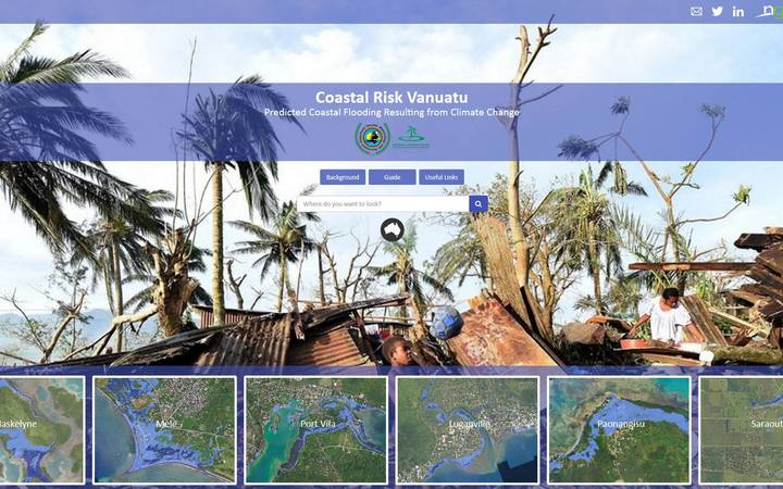The home page of the Coastal Risk Vanuatu website. http://www.coastalrisk.com.vu/
