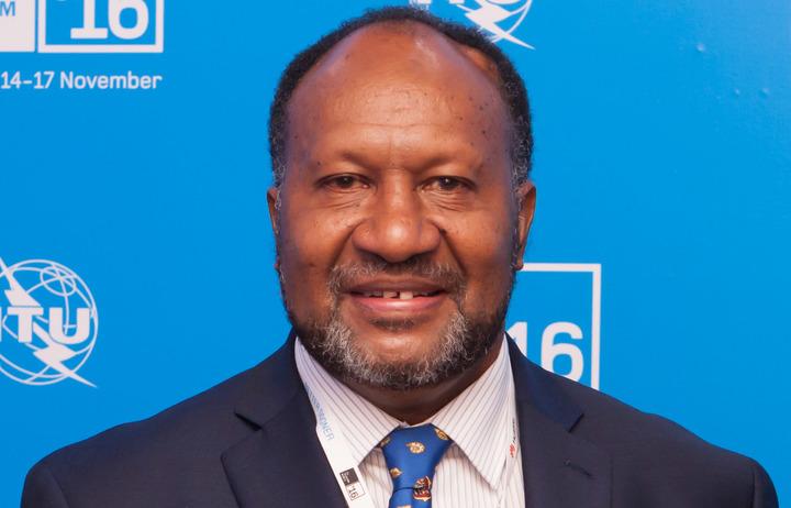 The Prime Minister of Vanuatu Charlot Salwai.